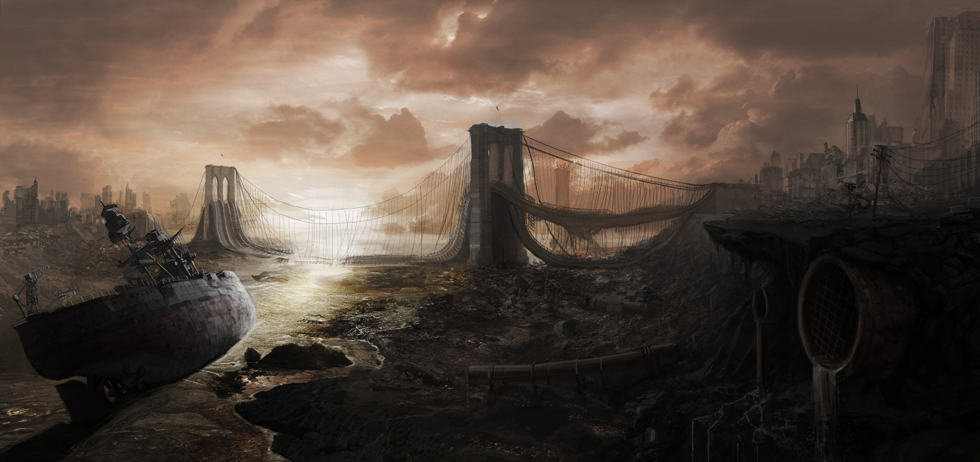 5950x2450 1859 Last Days 2d landscape post apocalyptic picture image digital art